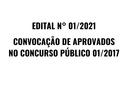 Convocação de aprovados no Concurso Público 01/2017