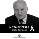 Nota de Pesar - Ex-Vereador Cleto Tamanini